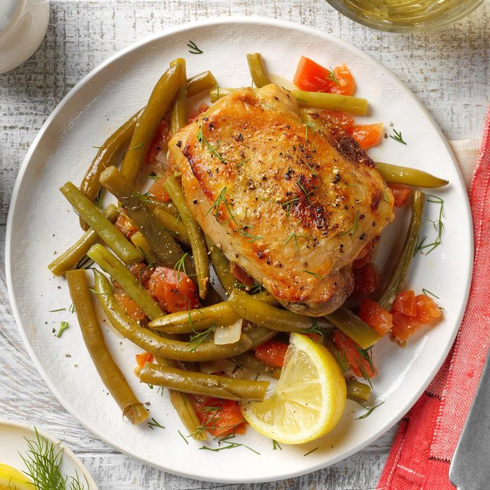 Greek Chicken with Green Beans