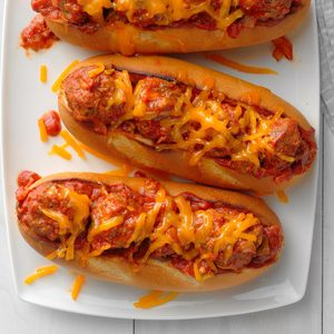 Sloppy Joe Meatball Subs