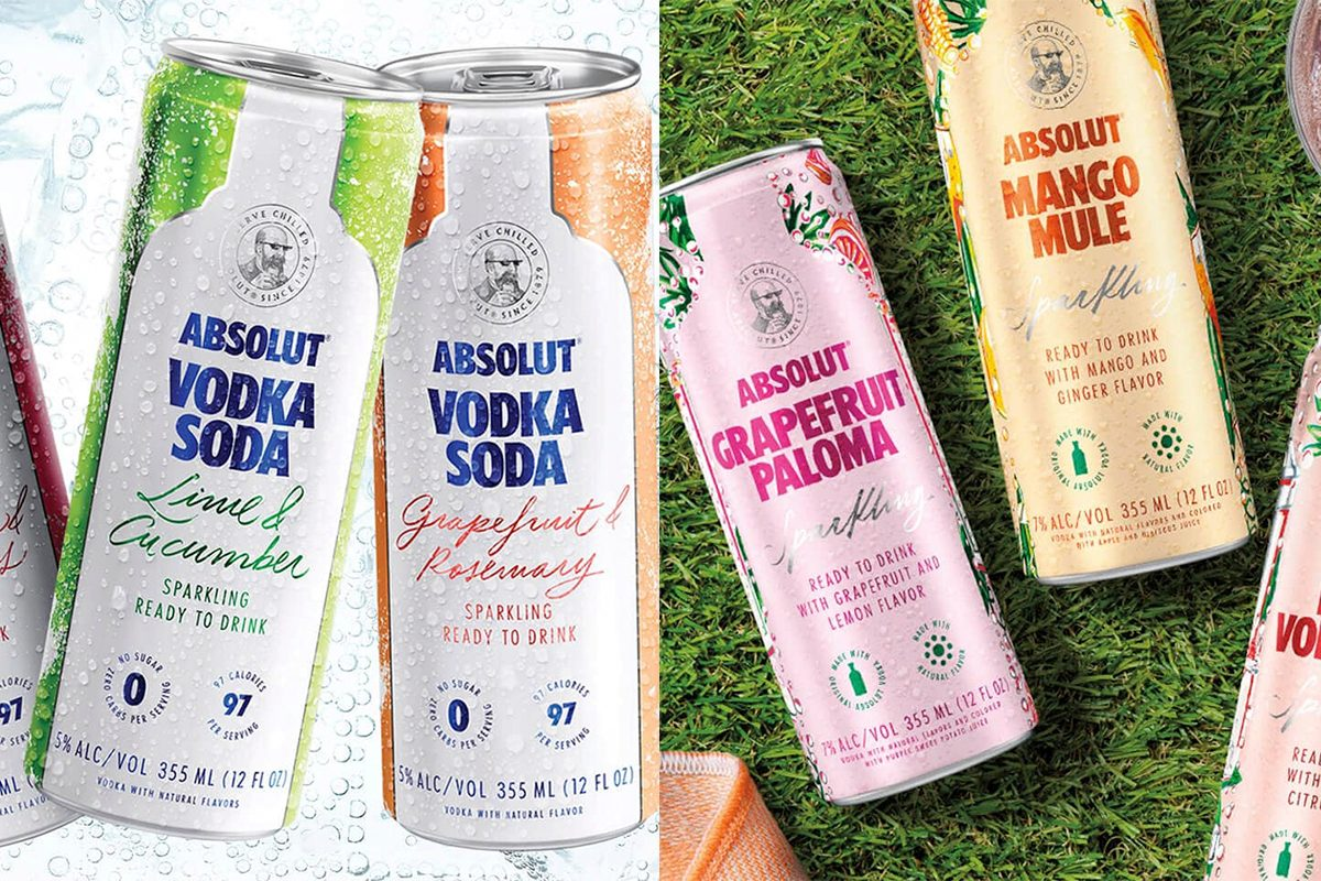 Absolut Vodka new can cocktails and flavors