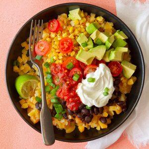 Butternut Squash Burrito Bowl