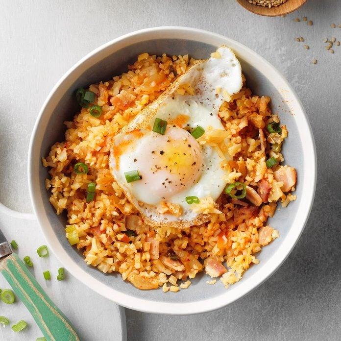 Day 20: Kimchi Cauliflower Fried Rice