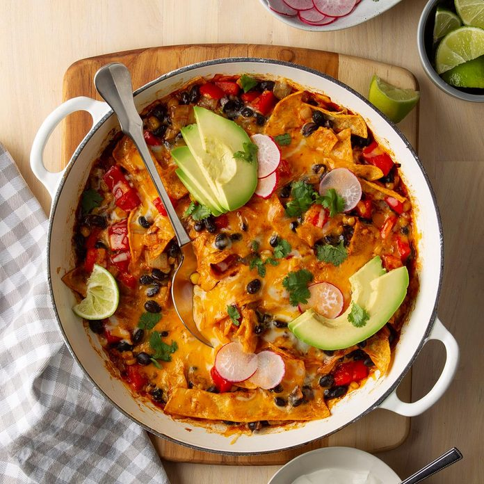 Day 18: Vegetarian Skillet Enchiladas