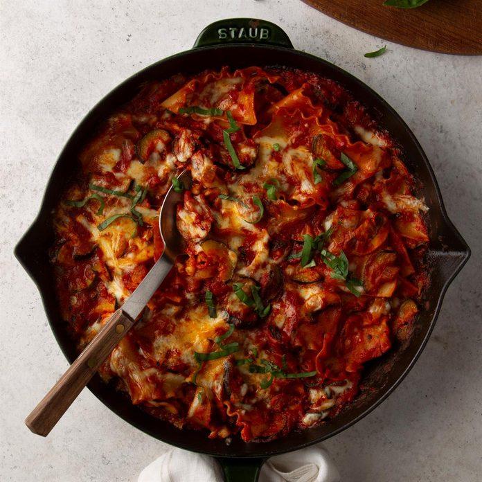 Day 2: Vegetarian Skillet Lasagna