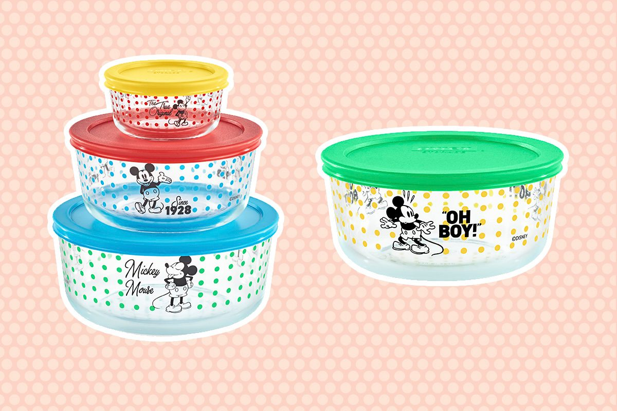 New Disney Pyrex Collection with background
