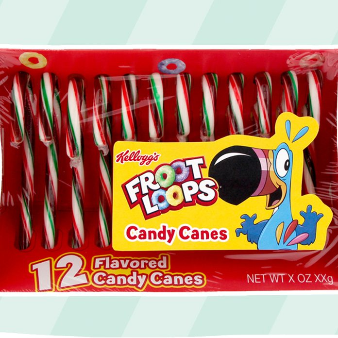 CRADLE PACK - KELLOGS FRUIT LOOPS CANDY CANES 12 CT Cut-out