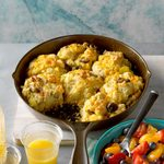 Cast-Iron Loaded Breakfast Biscuits