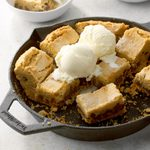 Chocolate-Stuffed Peanut Butter Skillet Cookie
