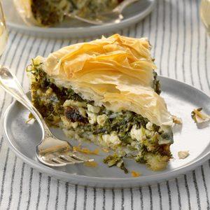 Weeknight Skillet Spinach Pie