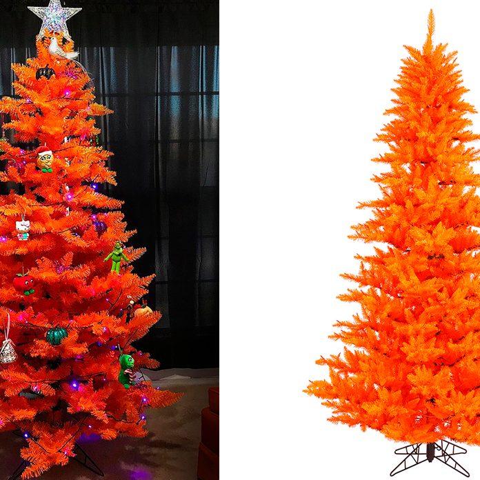 "Vickerman Artificial Christmas Tree 6.5'x46"" Orange Fir Tree 1216 Tips"