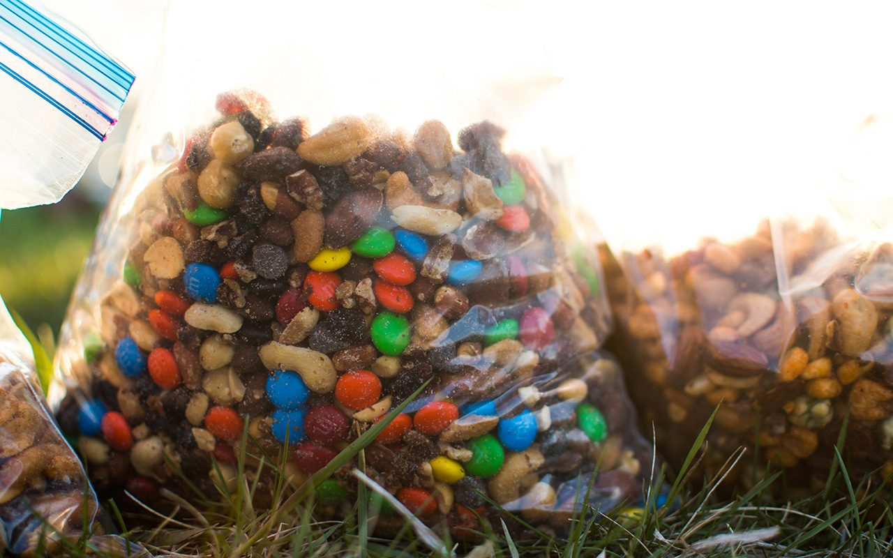 Hiking and canoeing, trail mix is a must have for food on the trip.