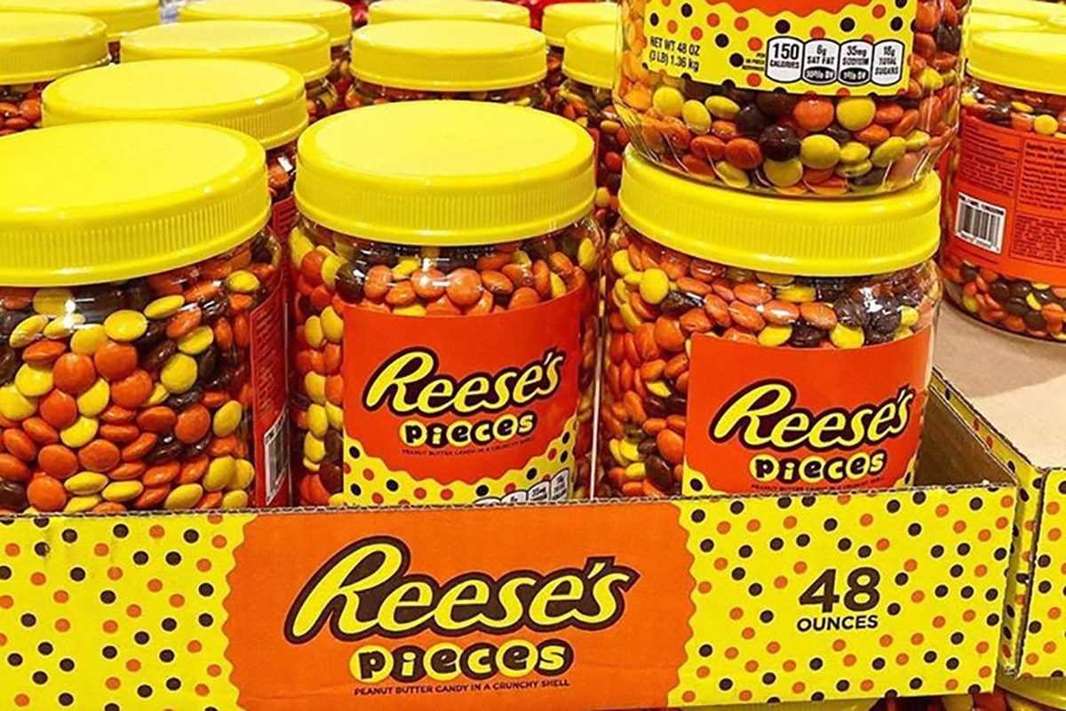 Reese's Pieces giant jar from Costco