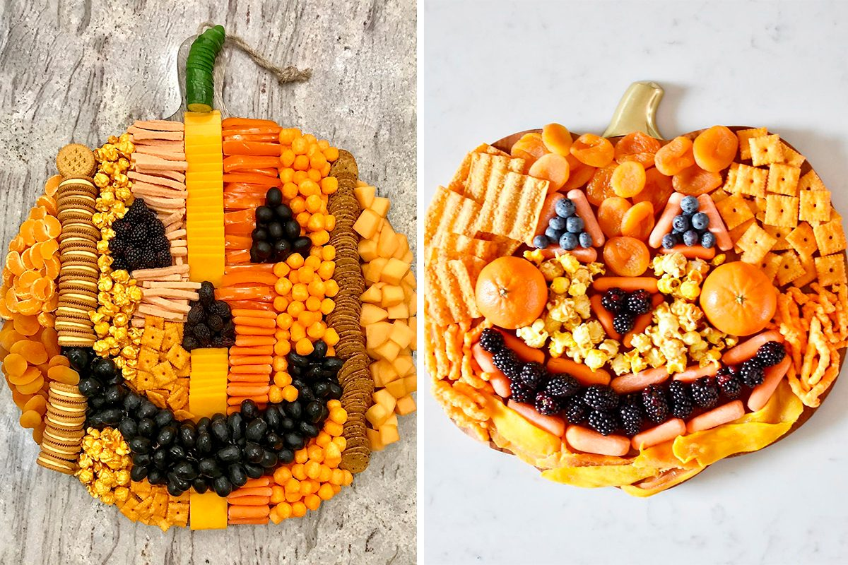 Pumpkin halloween snack boards