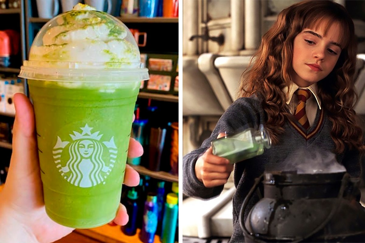 HARRY POTTER POLYJUICE POTION FRAPPUCCINO FROM STARBUCKS