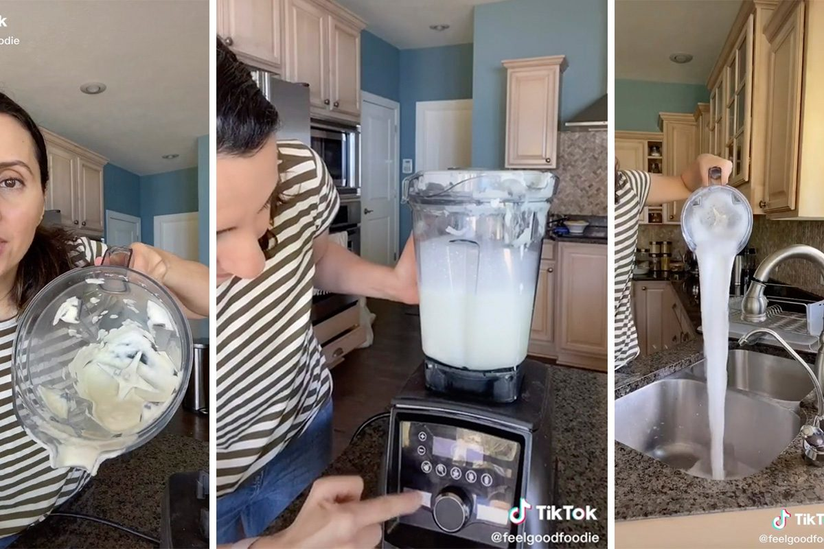 TikTok blender cleaning hack