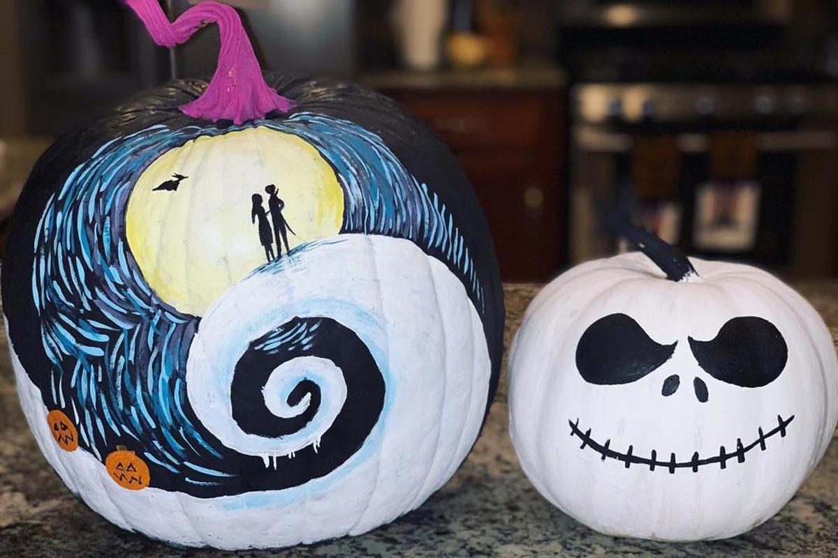 Disney Painted Halloween pumpkins