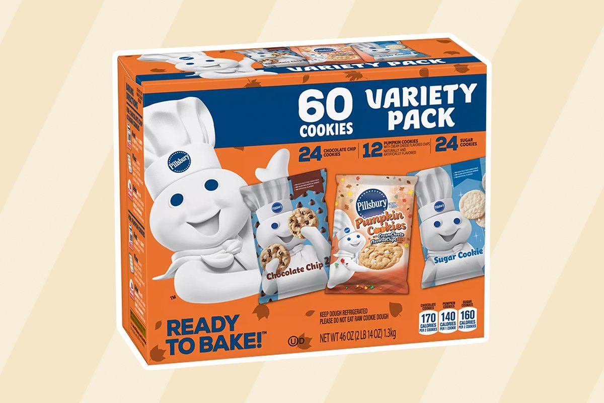 Pillsbury Ready-To-Bake Fall Cookie Variety Pack (60 cookies)