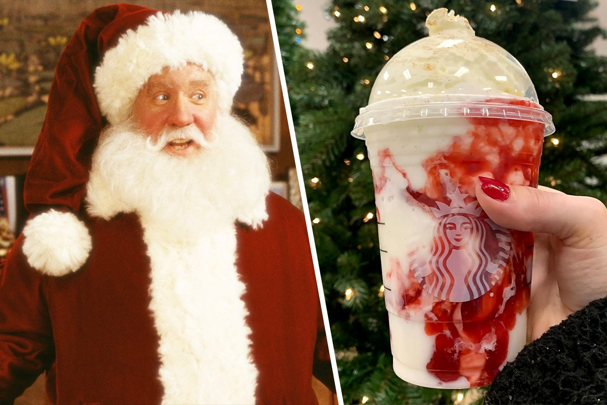 SANTA CLAUS FRAPPUCCINO AT STARBUCKS