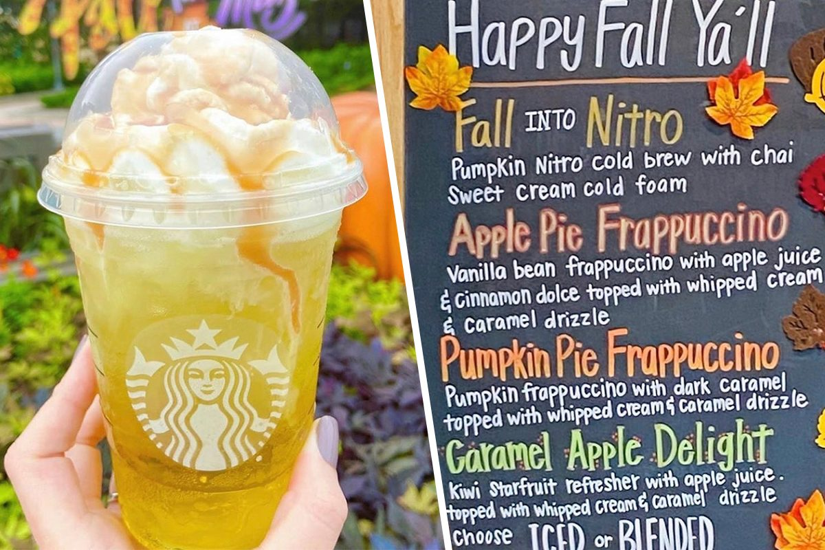 Caramel Apple Delight is currently available at Starbucks, Disney Springs, Florida
