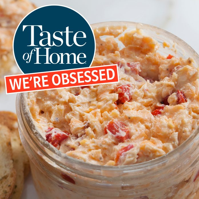 Pimento Cheese Spread with Toasted Crostini's
