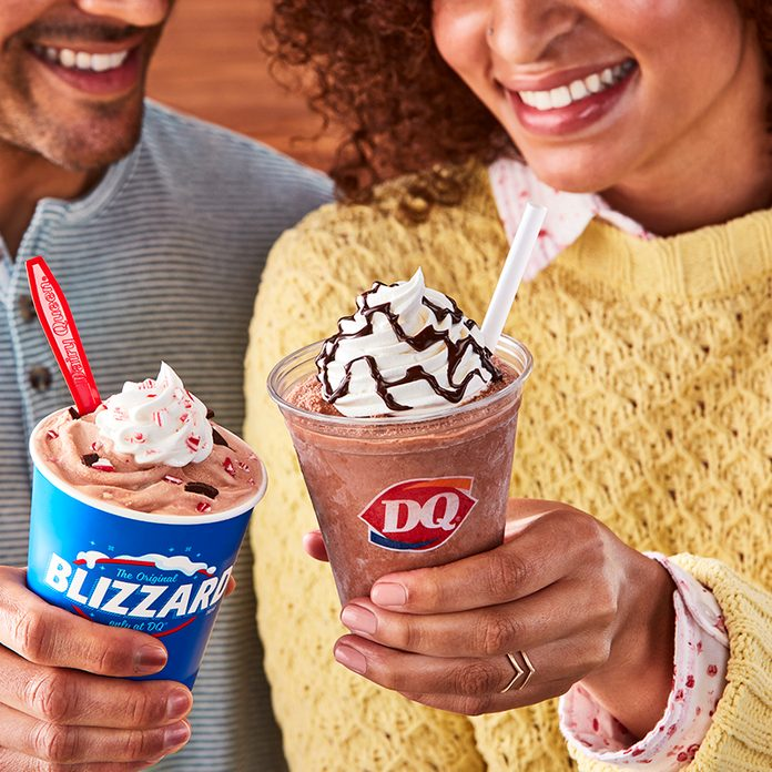 Dairy Queen Peppermint Hot cocoa blizzard