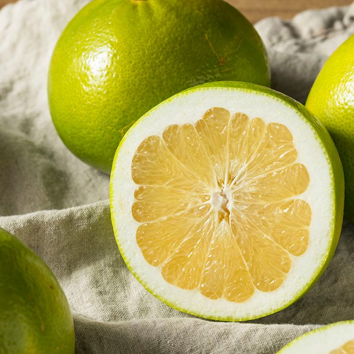 Raw Green Organic Golden Pomelo Ready to Eat