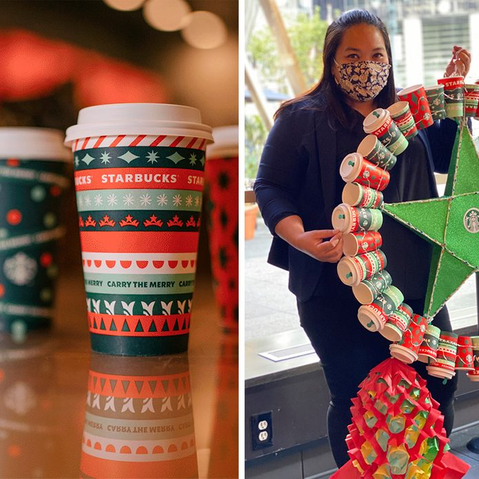 Starbucks Cups wreath
