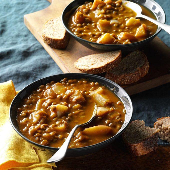Instant Pot Lentil Pumpkin Soup