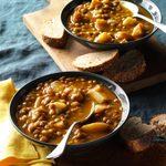 Pressure-Cooker Lentil Pumpkin Soup