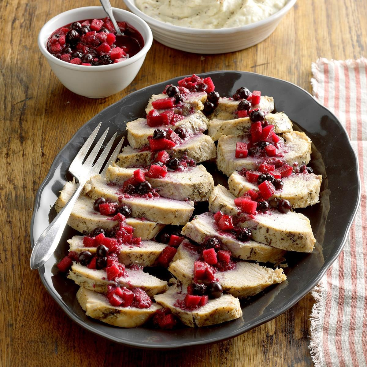 October 14: Pressure-Cooker Turkey with Berry Compote