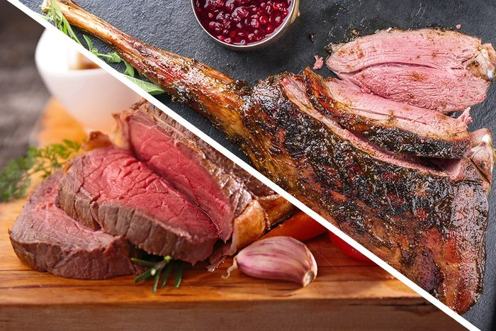 Barbecue Haunch of Venison with Mushrooms and Cranberry Sauce as close-up on a slate slab ; Shutterstock ID 676016473; Job (TFH, TOH, RD, BNB, CWM, CM): TOH roast beef fillet; Shutterstock ID 521346085; Job (TFH, TOH, RD, BNB, CWM, CM): TOH