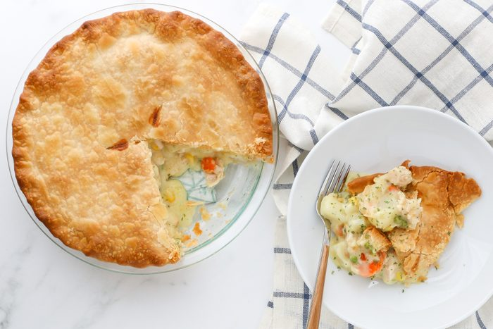 how to make chicken pot pie from scratch Finished Pie Horizontal