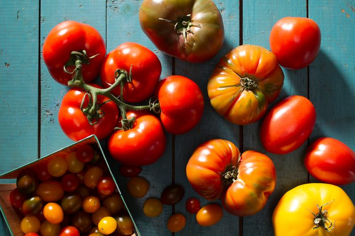 Garden tomatoes, heirloom tomatoes and cherry tomatoes