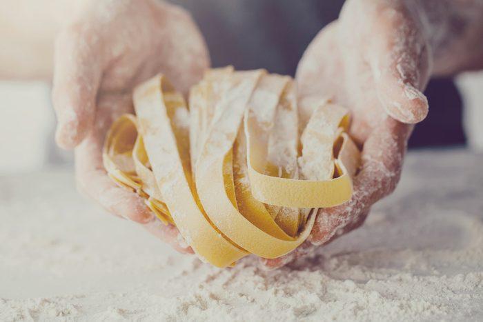 process of making homemade pasta