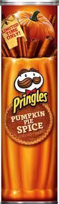Tube of pumpkin spice Pringles