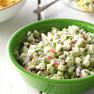 Crisp cucumber salad