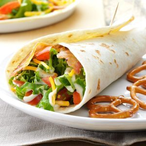 BLT Wraps Recipe from Taste of Home