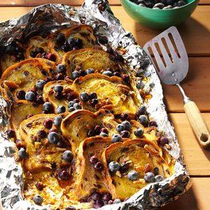 blueberry-cinnamon campfire bread