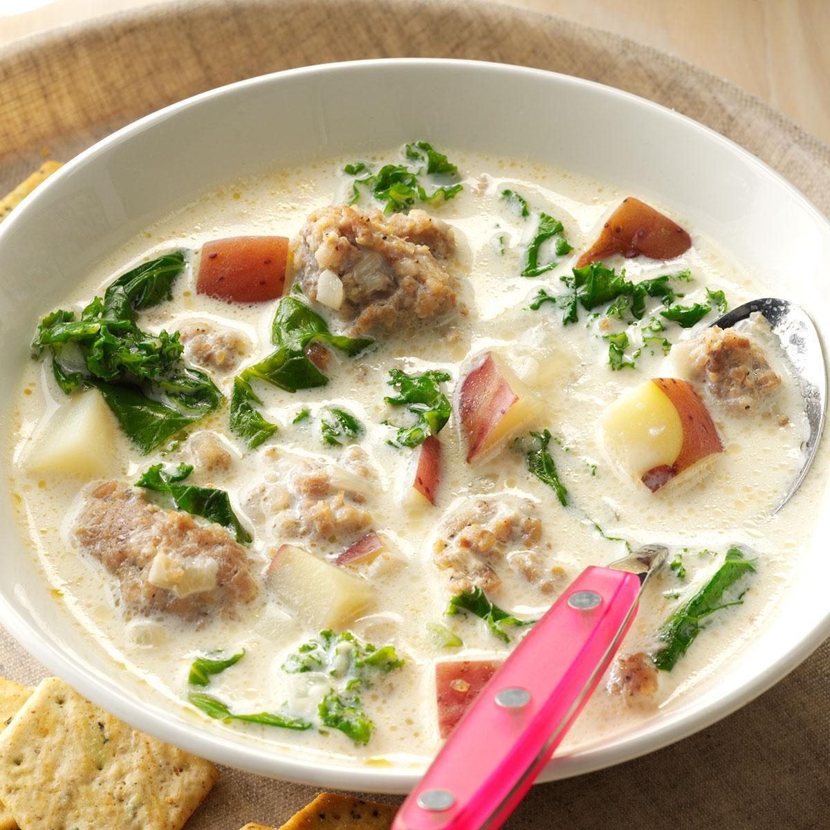 Potato, Sausage & Kale Soup