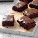Chocolate glazed brownies