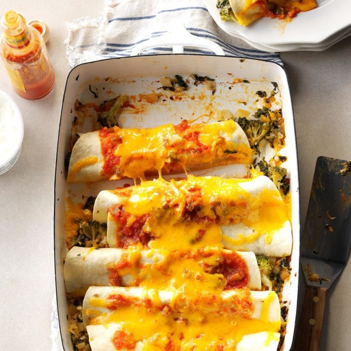 Spinach n Broccoli Enchiladas