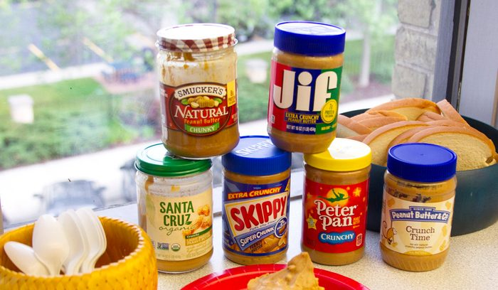 chunky peanut butter ready for a taste test