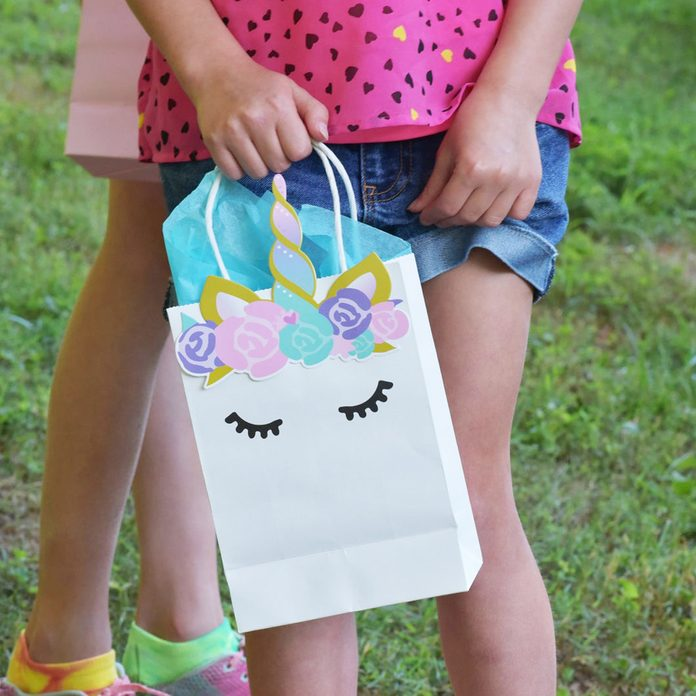 Unicorn Party Bags for Favors, Gifts and Goodies (Set of 10) - Handcrafted & Super Cute!