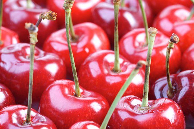 Studio shot of cherries