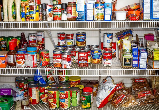 Photo of well stocked pantry ready for winter