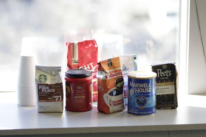 National coffee brands huddled together.