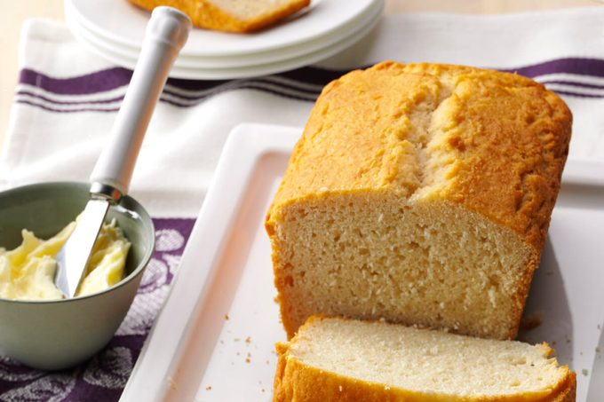 loaf of honey beer bread with butter