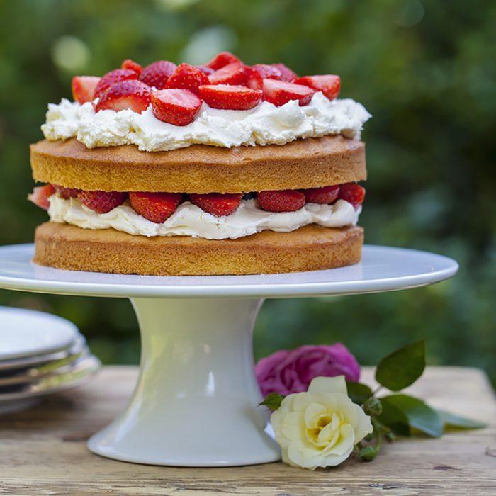 Strawberry and cream cake; Shutterstock ID 287478845