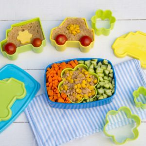 Lunch box with healthy meal for kids
