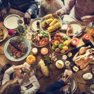 People Celebrating Thanksgiving Holiday