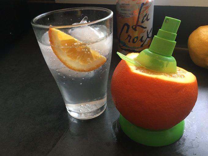 Sprayer with orange